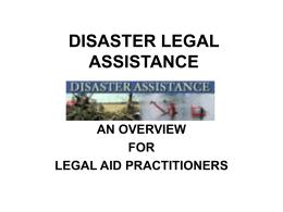 DISASTER ASSISTANCE - Centennial