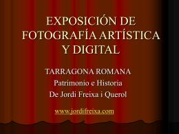 EXPOSICIÓN DE FOTOGRAFIA ARTÍSTICA Y DIGITAL