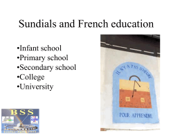 Sundials in french education
