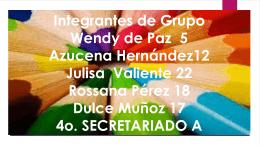 Integrantes de Grupo Wendy de Paz 5 azucena