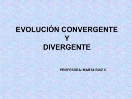 Evolución convergente - Liceo Javiera Carrera