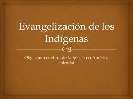 Evangelización de los Indígenas