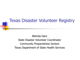 Texas Disaster Volunteer Registry