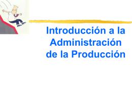 Administración de la Producción -