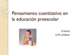 Pensamiento cuantitativo en la educación