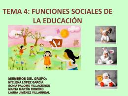 EDUCACIÓN SOCIALIZACIÓN
