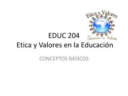 EDUC 200 Educación Contemporánea