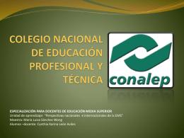 COLEGIO NACIONAL DE EDUCACIÓN PROFESIONAL Y