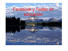 Facebook y Twitter en educación