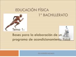 EDUCACIÓN FÍSICA - IES DIONISIO AGUADO