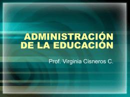 ADMINISTRACIÓN DE LA EDUCACIÓN