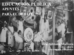 EDUCACIÓN APUNTES PARA UN DEBATE