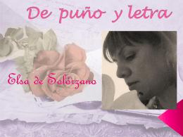 De puño y letra - Elsa De Solorzano