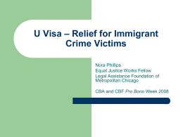 U Visa – Relief for Immigrant Crime Victims