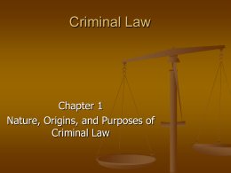 Criminal Law - Anoka-Hennepin School District 11