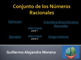 Conjunto de los Números Racionales -