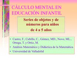 CÁLCULO MENTAL EN EDUCACIÓN INFANTIL