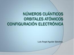 Números cuánticos Orbitales atómicos