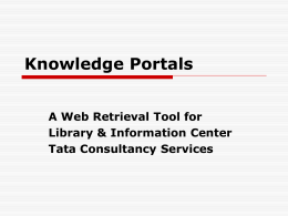 Knowledge Portals
