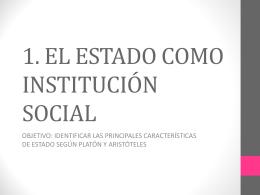 EL ESTADO COMO INSTITUCIÓN SOCIAL