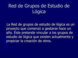 Red de Grupos de Estudio de Lógica