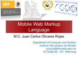 Clase modelo - Instituto Tecnológico de Morelia