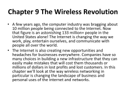 Chapter 9 The Wireless Revolution
