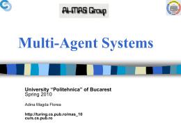 Multi-Agent Systems - Cursuri Automatica si