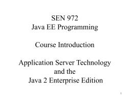 Lecture 1 - bhecker.com