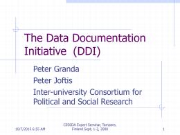 CES2000 DDI - Yhteiskuntatieteellinen tietoarkisto