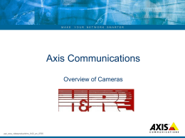 Axis video product presentation