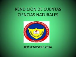 RENDICIÓN DE CUENTAS CIENCIAS NATUALES