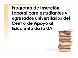 Programa de Inserción Laboral para estudiantes y