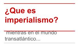 ¿Que es imperialismo?