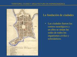 La fundación de ciudades