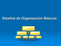 Diseños de Organización Básicos