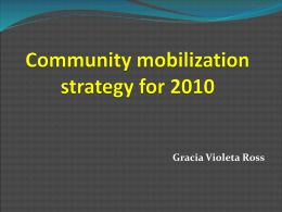 Community mobilization strategy for 2010
