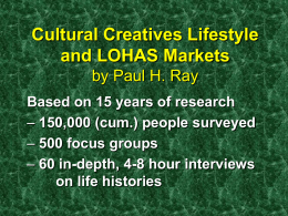 Who are the Cultural Creatives?