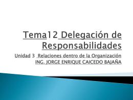 Tema12 Delegación de Responsabilidades