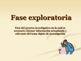 Fase exploratoria - 6° Humanidades IDS Esquina |