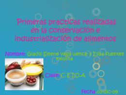Primeras practicas realizadas en la conservación e