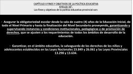 CAPÍTULO II FINES Y OBJETIVOS DE LA POLÍTICA