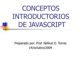 CONCEPTOS INTRODUCTORIOS DE JAVASCRIPT