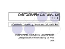 SISTEMA INTEGRADO DE INFORMACIÓN CULTURAL (SIIC)