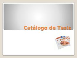 Catálogo de Tesis