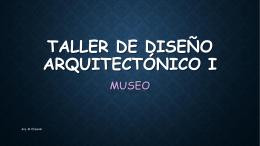 TALLER DE DISEÑO ARQUITECTONICO I