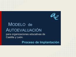 MODELO de AUTOEVALUACIÓN para organizaciones