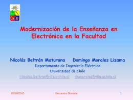 Desarrollo de la Electrónica de Frontera en Chile: