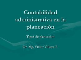 Contabilidad administrativa en la planeación