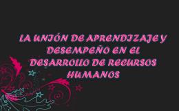 LA UNIÓN DE APRENDIZAJE Y DESEMPEÑO EN EL